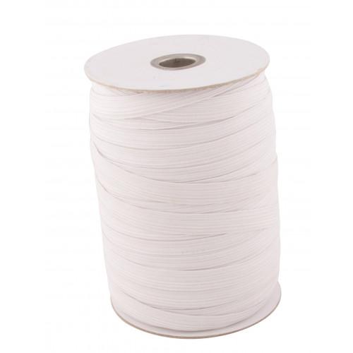 "1/4"" White Braided Elastic - 250m roll"
