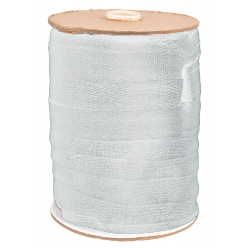 19mm WHITE Cotton Tape (50m roll)